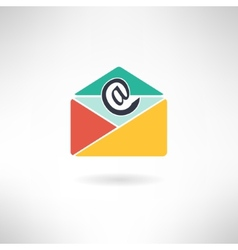 Internet mail in modern flat design vector image vector image