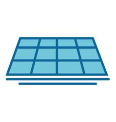 Isolated solar panel vector