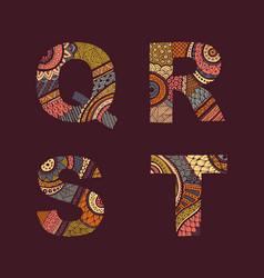 letters set q-t vector image vector image