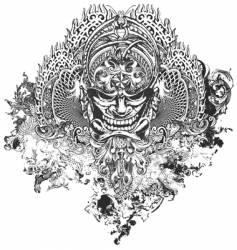 Nefarious apparel illustration vector