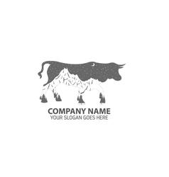 Night Bull Logo Icon vector image vector image