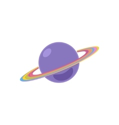Planet Saturn Isolated on White vector image vector image