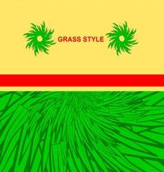 0615 19 green grass1 v vector image