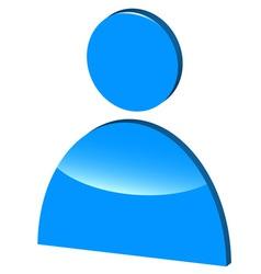 3D symbol of man vector