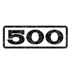 500 watermark stamp vector