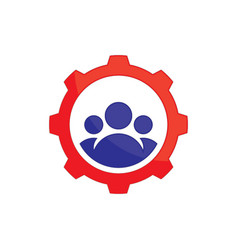 Abstract gear team work logo icon image ima vector