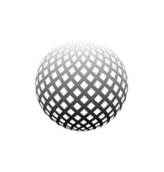 abstract globe dotted sphere 3d halftone effect vector image