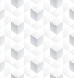 Abstract seamless 3D white cubes background vector image