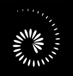 Abstract spiral icon vector