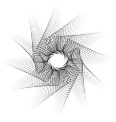 Abstract spirograph pattern texture on white art vector
