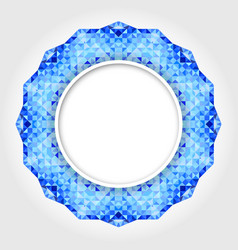 Abstract White Round Frame with Blue Digital Borde vector image