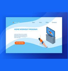 aerobics concept banner vector image