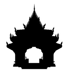 ancient buddhist temple silhouette vector image