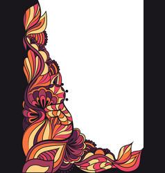 Angular floral doodle ornament vector