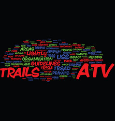 Atv trails text background word cloud concept vector