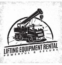 auto crane emblem design vector image