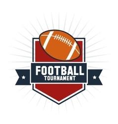 Ball of american football design vector image