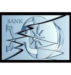 Bankrupt concept vector