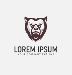 bear beast logo design concept template vector image