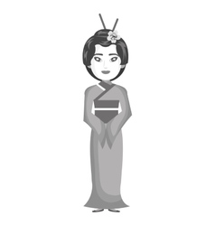 Beautiful geisha japan character vector