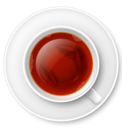 Black tea vector