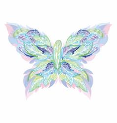boho style shape made feathers vector image