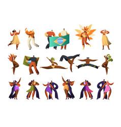 brazilian carnival salsa dancer costume set latino vector image