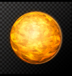 Bright realistic venus planet with texture vector