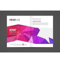 Brochure Flyer temaplte modern polygonal vector image