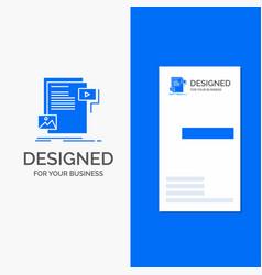 business logo for data document file media vector image