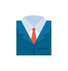 Business suit icon - flat vector