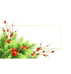 Christmas greeting card template with text vector