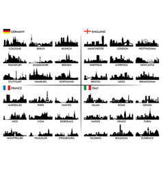 City skyline european countries vector