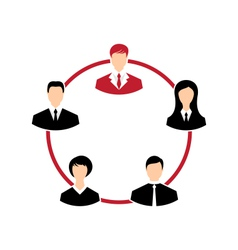 concept of leadership community business people - vector image