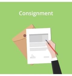 Consignment concept a business man vector