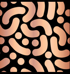 copper foil abstract handdrawn background vector image