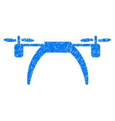 Copter grunge icon vector