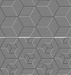 Cubic Elements Seamless Patterns vector