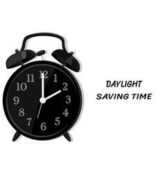 Daylight saving time and black clock vector