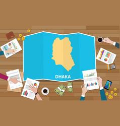 dhaka dacca bangladesh city region economy growth vector image