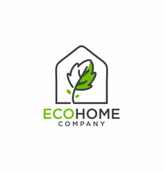 eco home logo design vector image
