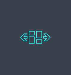 Fluid layout concept blue line icon simple thin vector