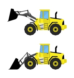 Front loader vector image