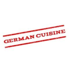 German Cuisine Watermark Stamp vector