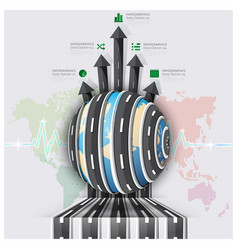 Global Road And Street For Travel And Journey vector