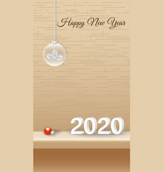 Happy new year decorative design with xmas vector