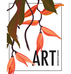 heliconians exotic flower nature garden print vector image
