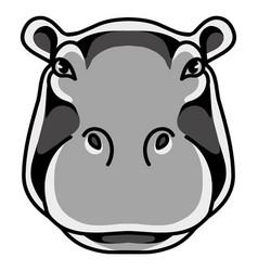 hippotatamus head mascot logo design vector image