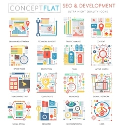 Infographics mini concept SEO and development vector