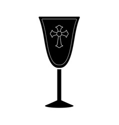 Isolated chalice silhouette vector